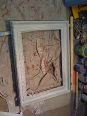 Antique Guilded Frame, in-process