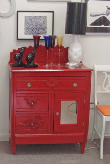 red lacquered furniture. Red Lacquered Side Chest Furniture W
